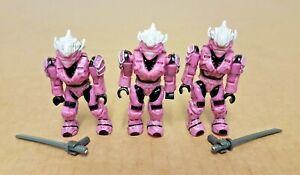 3 X Halo Mega Bloks Rose Hayabusa Spartan Minifigures