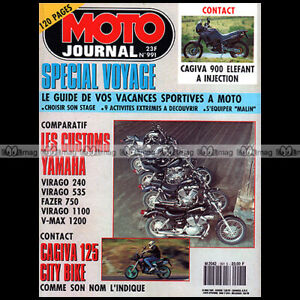 MOTO-JOURNAL-991-YAMAHA-XV-535-1100-VIRAGO-1200-V-MAX-750-FAZER-CAGIVA-900-1991