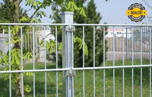 Doppelstabmattenzaun Zaun Industriezaun Gartenzaun Gittermatte Doppelstab