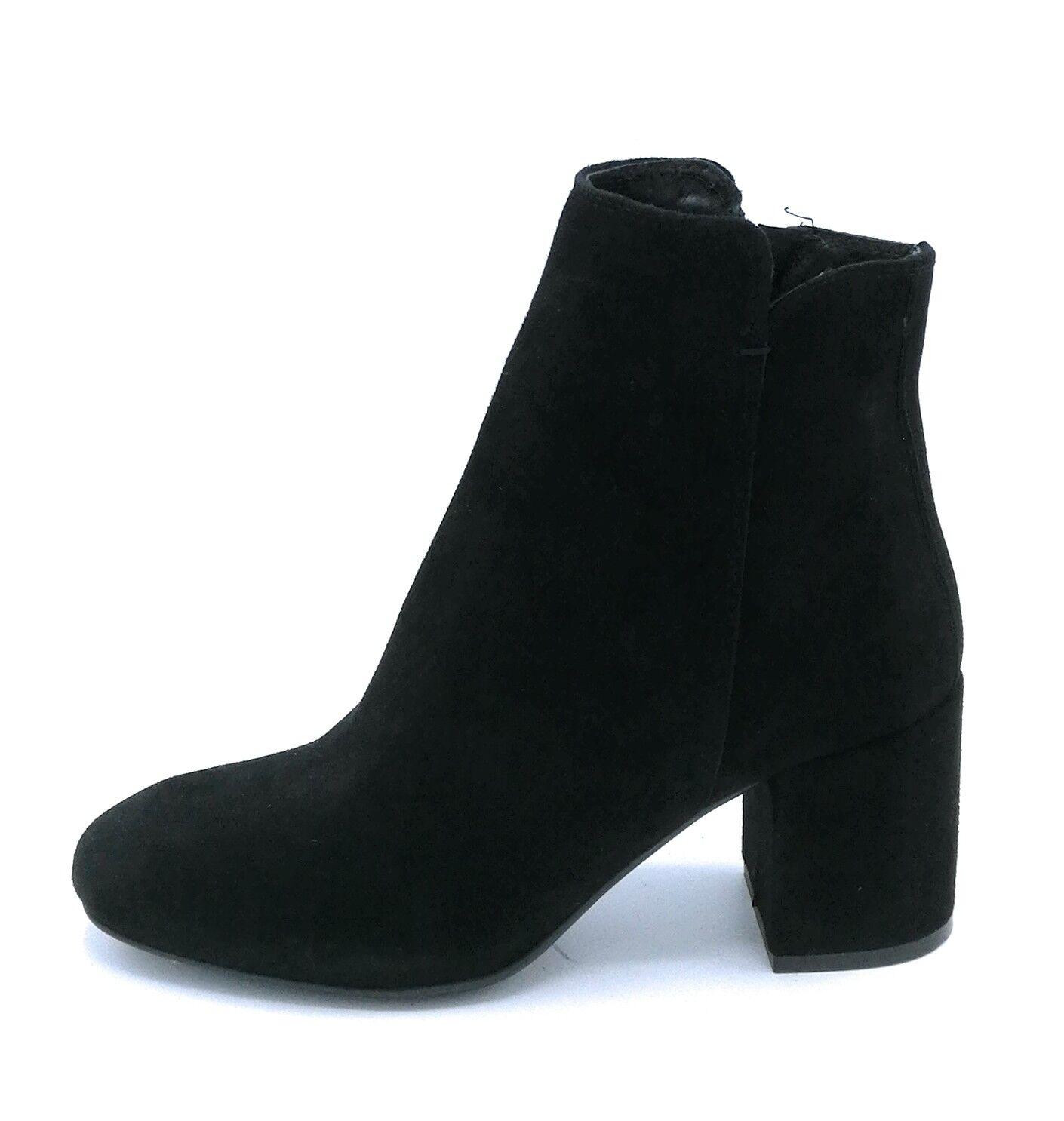 Debutto Donna D700 stivaletto camoscio nero con cerniera tacco 7 cm