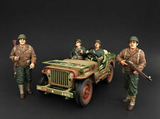 American Diorama 1/18 Scale Set Of 4 Military WWII Army Figures 4 Diecast Model