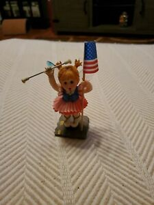 4th of July Fairy Enesco My Little Kitchen Fairies Parade Fairie, Red, White Blu