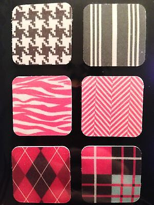 Microfiber Cell Phone cleaner sticker x6 (1 sheet) resusable for touch screen
