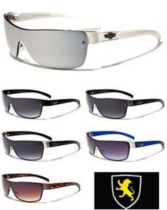 Mens-Khan-Popular-European-Fashion-Designer-Sports-Shield-Aviator-Sunglasses