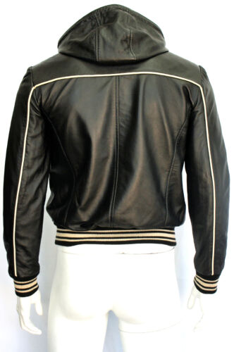 Fraser Mens Slim Fit Soft Light Weight Hooded Fashion Napa Sheep Leather Jacket