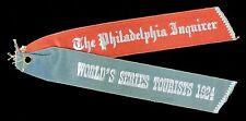 1924 Philadelphia Inquirer World Series Ribbon New York vs Washington WaJo