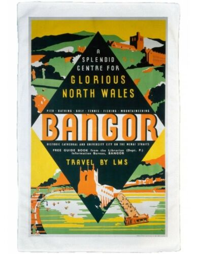 LMS poster 1923-1947 A Splendid Centre for Glorious North Wales Bangor