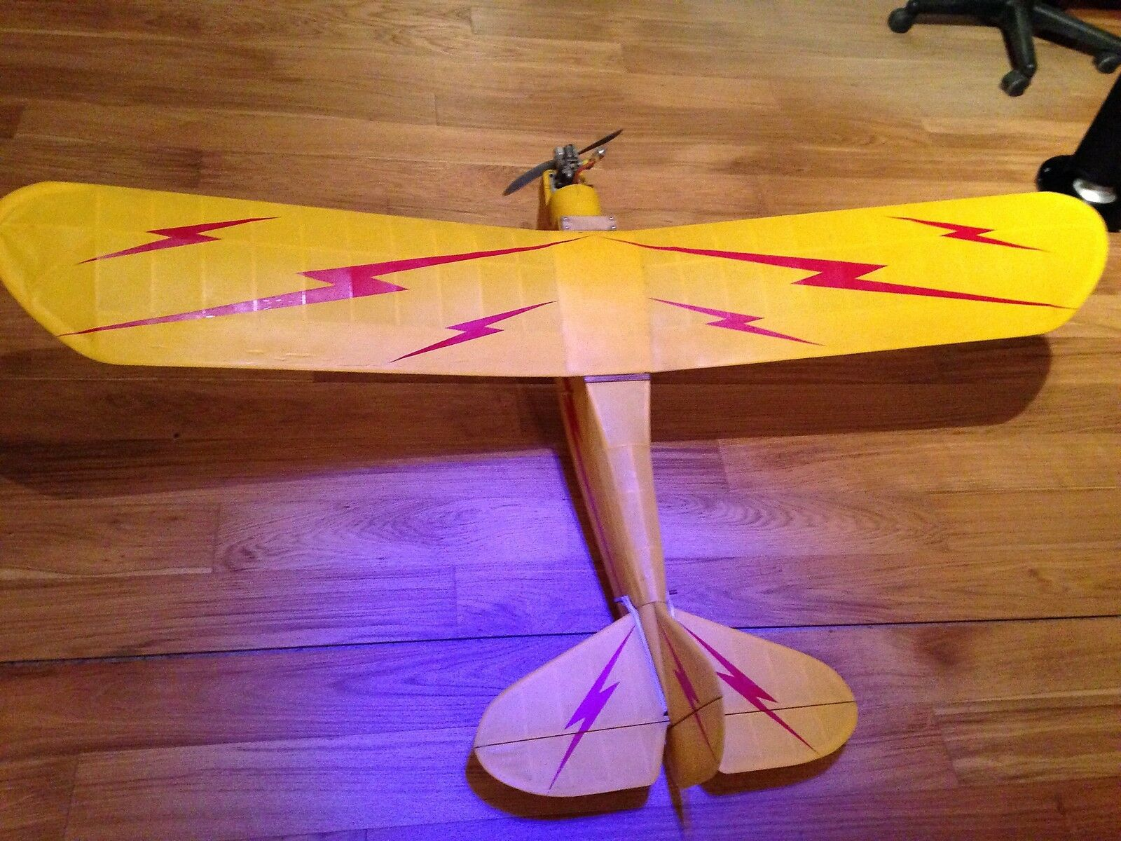 Radio Controlled Aeroplane Aircraft 64  Span Vintage Airframe with Engine Used