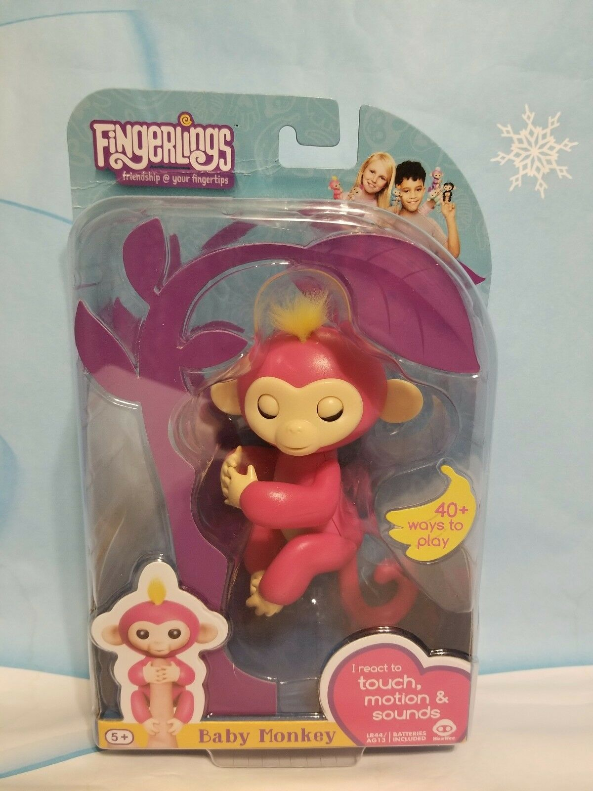 Neue authentische wowwee fingerlings interaktive baby - äffchen farbe Rosa namen bella