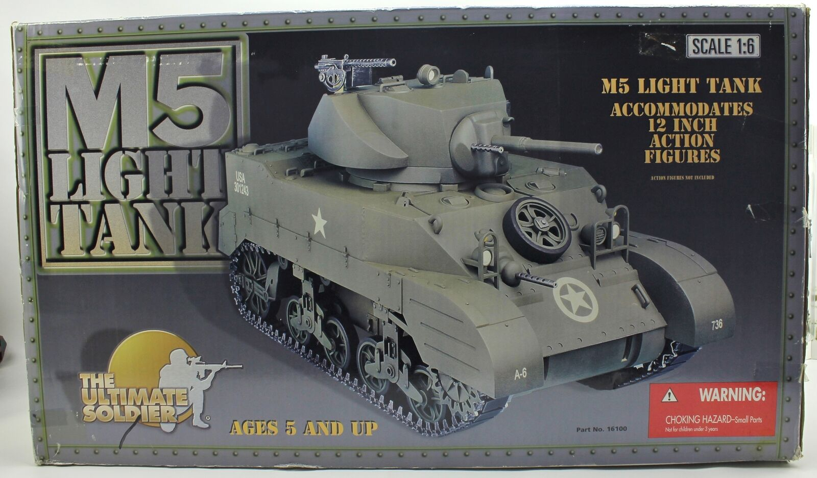 WWII M5 Light Tank 1 6 Scale for 12  Ultimate Soldier Figure