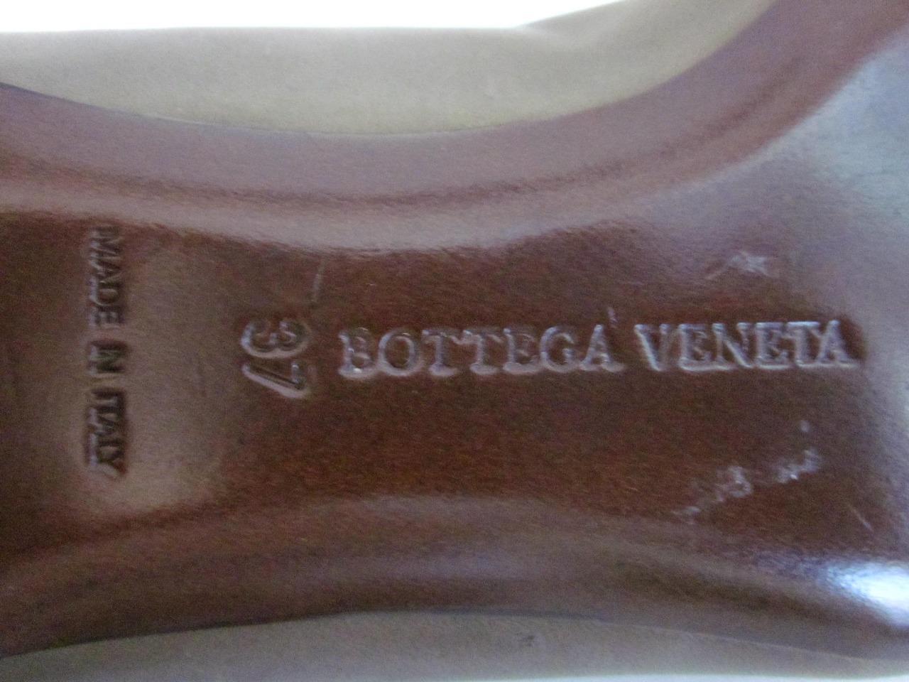 Nuevo BOTTEGA VENETA VENETA BOTTEGA pisos Talla 37 7 marrón cuero bolsa antipolvo RT Esculpidas  950-único e15be5