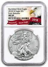 - 2018 American Silver Eagle NGC Ms69 Flag Er Label