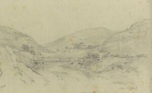Ralph Stubbs, River Bridge, Sandsend – Late 19th-century graphite drawing