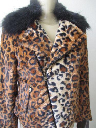 Størrelse Langærmet Nwot Faux Animal Xs Adrienne Jakke Print Landau Fur xq0ZxRH4w