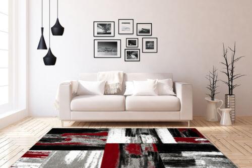 Designer Teppiche Konturenschnitt Modern Teppich Kasten Design Rot