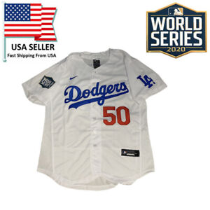 Los Angeles Dodgers #50 Mookie Betts White 2020 World Series Champions Jersey