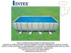 Details about Intex 29026 Tarpaulin Swimming Pool Cover Thermal Rectangular  cm 538x253 Micron