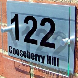 HOUSE-DOOR-NUMBER-PLAQUE-WALL-GATE-SIGN-PLATE-NAME-GLASS-ACRYLIC-ALUMINIUM
