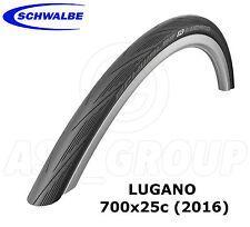 Schwalbe Lugano 700x25c (25-622) Racing/Strada Bicicletta Pneumatico-Nero (versione 2016)