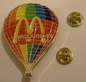 McDonald-039-s-Mcdo-HOT-BALLOON-200-years-anniversary-MONTGOLFIER-brothers-pin-badge