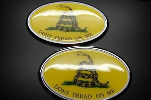DONT TREAD ON ME THE GADSDEN FLAG EMBLEM STICKER 3D DECAL FOR CARS OR ANYTHING..