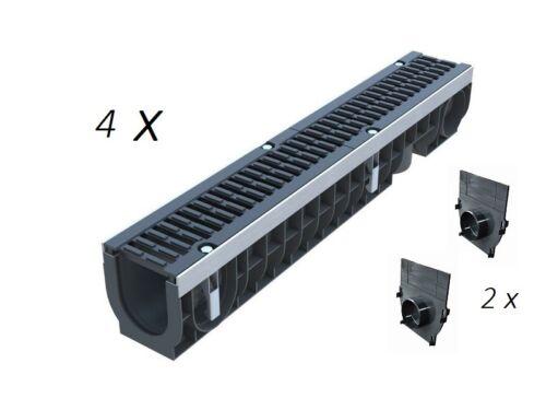 Eckverbinder Sparset Kiesfangleisten höhenverstellbar Al99,5 70-110mm inkl