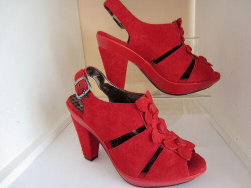 Hush Puppies Ladies Sandals AERIS  Red Suede UK 3 x 9 LR