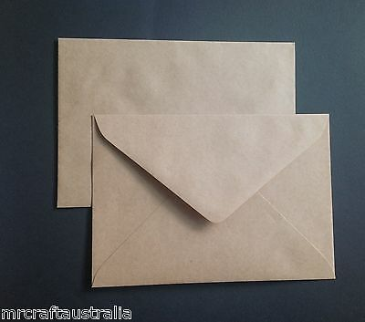 150 Envelopes Kraft Craft Recycled Brown C5 90gsm  Fits 1/2 A4 162x229mm NEW