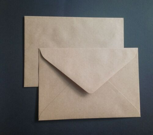 50 Envelopes Kraft Craft Recycled Brown C5 90gsm  Fits 1//2 A4
