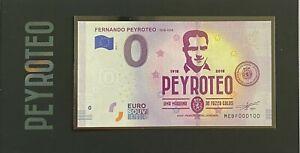 BILLET-0-EURO-FERNANDO-PEYROTEO-PORTUGAL-2018-NUMERO-100