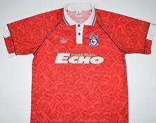 1992-1993 CARDIFF CITY BLUEBIRD AWAY FOOTBALL SHIRT (SIZE L)