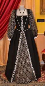 Abito-Storico-Costume-di-Scena-Abito-d-039-Epoca-Costume-Stile-secolo-XVI-cod-FM20