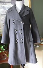 Marc by Marc Jacobs SOFT Gray Wool Blend Baby Doll Military Coat L