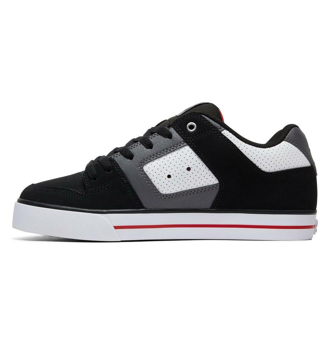 DC SHOES MENS TRAINERS.PURE BLACK/RED/WHITE LEATHER PADDED XWK SKATE SHOES 8S 60 XWK PADDED ca94d1
