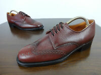 Mens Shoes Size 9 Vintage John White All Leather Classic Brogues Without Box