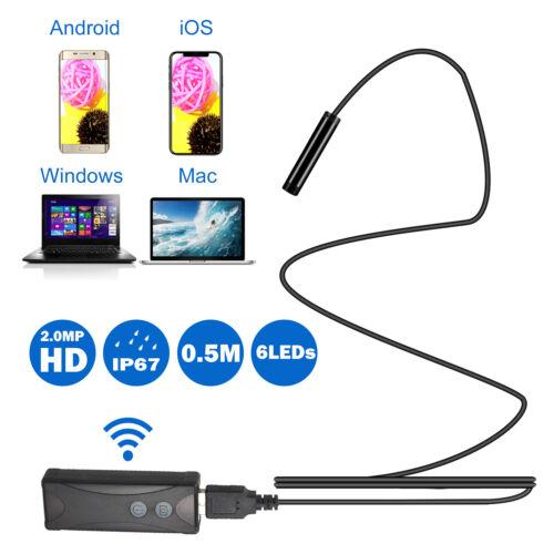 Drahtlose Endoskopkamera WiFi Endoskopinspektion 7mm 2.0MP HD Wasserdichte M3Y9