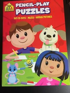 Pencil Play Puzzles Dot To Dots Mazes Hidden Pictures Coloring Book