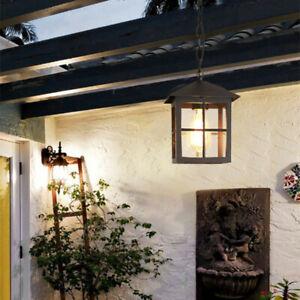 Details About Gl Pendant Light Outdoor Lamp Garden Ceiling Lights Black Chandelier Lighting