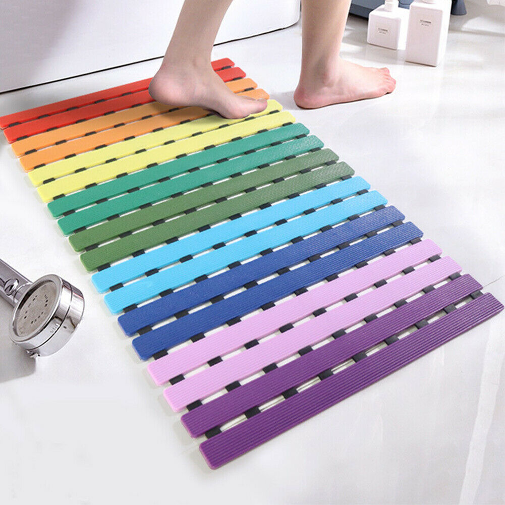 Kids Adults Non Slip With Suction Cups Bath Easy Clean Drain Holes Shower Mat