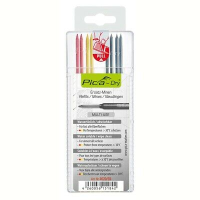 Pica PICA4020 Dry Pen Refills Ink Markers Black Red Yellow