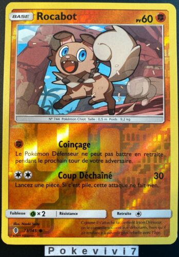 Pokemon card rocabot 73//145 reverse sun and moon 2 sl2 french new