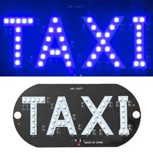 Taxi Cab Inside Windscreen Windshield Sign Blue LED Light Lamp Bulb DC 12V