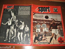 LO SPORT 1952/50=FOTO POSTER FIORENTINA 1952/53=NORDAHL MILAN=BASKET BOLOGNA=