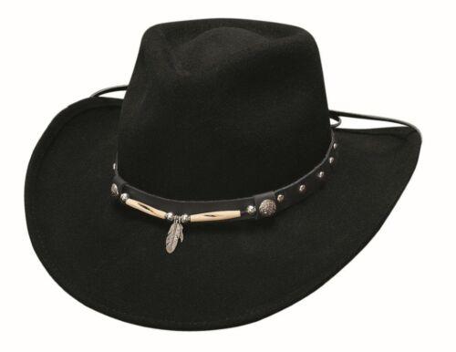 Western Cowboy Hat Rollin Thunder Black Wool Felt Stetson by Bullhide Montecarlo