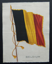 """BELGIUM S32 National Flag Silk issued 1910 American Tobacco  7 1/2"""" x 5 3/4"""""""