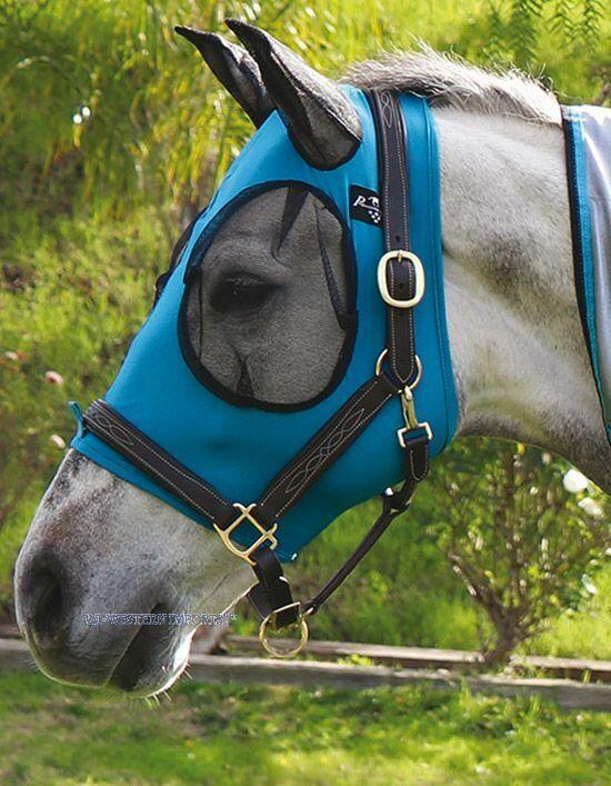 Professional's Choice Comfort Fit Fliegenmaske pacific für Pferde in zWeißGrün