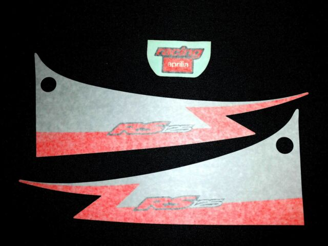 New Genuine Aprilia Rs 125 2001 Diablo Black Rear Fairing Decal Set Ap8167646