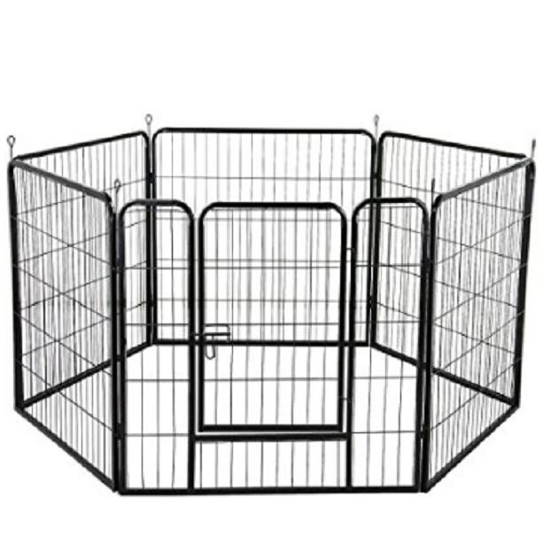 GRANDE 6 PANNELLO DOG Neonati Neonati Neonati Pet esercizio Gioca Pen Pets Cucciolo Gabbia all'aperto 80x80cm 69d42f