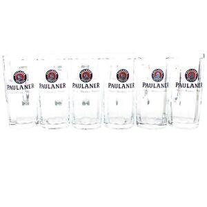 6-Paulaner-Glaeser-Set-0-3l-Bier-Glas-Henkel-Krug-Exklusiv-Seidel-Moldau-Kruege