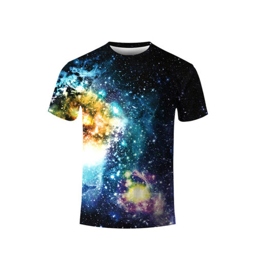 3D Printing Pattern Short Sleeve Clothes Women Men Couple Casual T-Shirt Top Tee